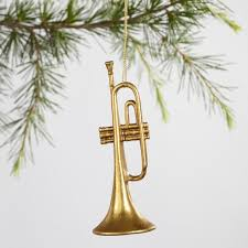 gold trumpet ornament world market