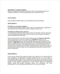 template for letter of reference download a free letter of