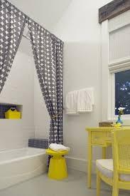 Yellow Striped Curtains Atlanta Yellow Stripe Curtains With Asian Vases Bathroom Beach