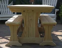 treated pine trestle picnic table