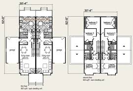 Multi Family House Plans Triplex Floor Plans For Multi Family Homes Part 35 T 417 Triplex Plans