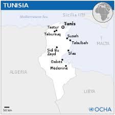 tunisia on africa map tunisia