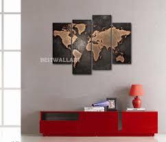 Wall Art World Map by Canvas Wall Art World Map Travel Lover Gift Wall World Map Wooden