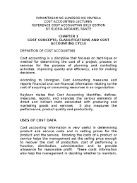 plm lectures cost accounting gloria rante doc1 cost cost