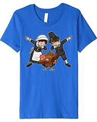 deal alert dabbing pilgrim turkey t shirt happy thanksgiving