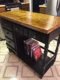repurposed kitchen island christine i like the side mounted paper towel and the island idea