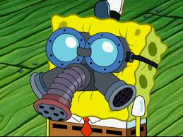 image spongebob with gas mask in squiditis png encyclopedia