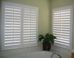 bathroom window treatments ideas decorations white corner bathroom window covering plantation
