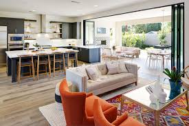 Updated MidCentury In Orange County Rue Living Rooms - Stylish living room furniture orange county property