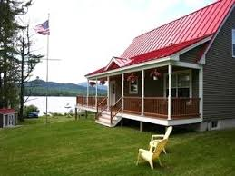 red roof grey with white trim cabin cabin fever u0026 lake dreams