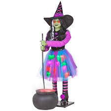 Halloween Animatronic Props Shop Gemmy Musical Animatronic Witch And Cauldron Outdoor