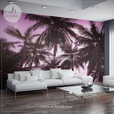 romantic sunset on exotic beach self adhesive photo mural
