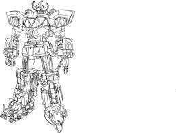 megazord coloring pages mighty morphin power rangers coloring