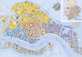 City Map Of Italy by Detailed Map Of Venice City Venice City Detailed Map Vidiani