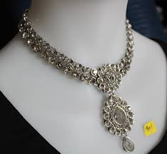 indian necklace set images Necklace set 1908 silver indian necklace earrings tikka set shieno jpg
