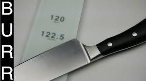 kitchen knives wusthof how to sharpen wusthof ikon chef knife w shapton glass 120 youtube
