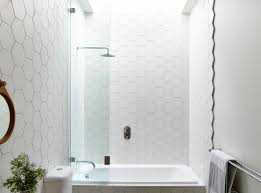 Tile Bathroom Shower Wall Suburb Cottage Home Expanded Into A Fresh Family Residence