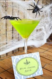 melon monster mash halloween cocktail recipe yumminess