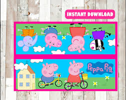 peppa pig tags instant download peppa pig