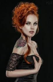redhead with tattoos red haired devil pinterest true colors