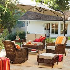 Outdoor Side Table Rattan Sonoma Goods For Life Presidio Patio Furniture Collection