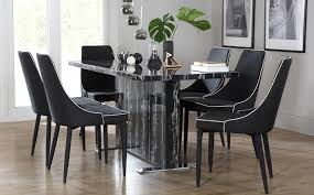 Black Dining Table  Chairs Black Dining Sets Furniture Choice - Black and white dining table with chairs