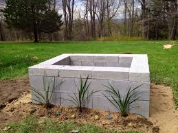 Firepit Blocks Image Of Cinder Block Pit Cinder Block Pits You Can