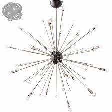 modern black light fixtures mid century modern 42 inch sputnik light fixture black steel