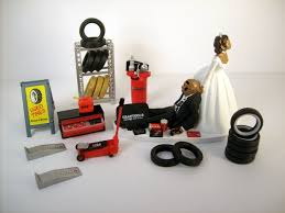 mechanic wedding cake topper wedding cake topper mechanics auto mechanic tires