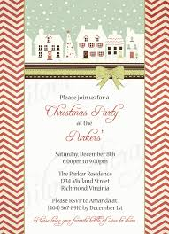printable christmas party invitations vintage holiday houses custom digital christmas party invitation