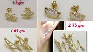 cool ear studs and small size 18k gold earrings ear studs designs with
