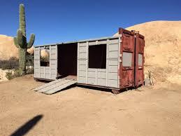 tiny houses arizona arizona couple turns dumpster into tiny vacation home tiny houses