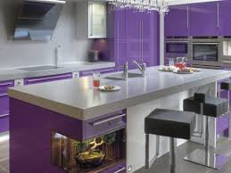 colourful kitchen cabinets purple stain colored kitchen cabinets designs ideas and decors