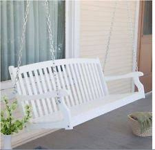 Farmhouse Patio Furniture Porch Swings On White 4 Foot Wood Cottage Farmhouse Patio Outdoor