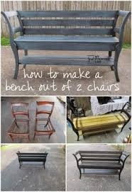 upcycle 2 old chairs into garden bench diy garden projects ideas