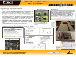 Barge Draft Tables Abe Senior Capstone Projects 2013 Agricultural U0026 Biological