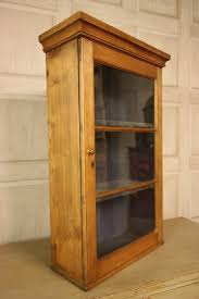 oak kitchen wall cabinet with glass doors georgian antique pine wine glass wall cabinet antiques