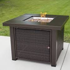 Outdoor Propane Gas Fireplace - pleasant hearth rio wicker propane gas fire pit table u0026 reviews