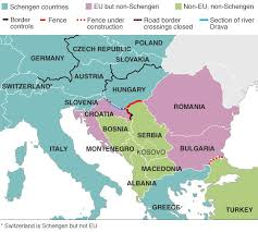 middle east map hungary croatia forcing hungary to take migrants news