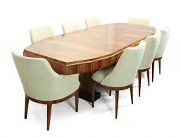 dining room french art deco dining table and eight chairs 1920s