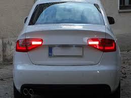 audi a4 tail lights audi a4 b8 8k 2008 with 2013 facelift led rear lights clipzui com