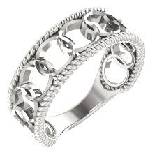 linked wedding rings stackable sterling silver wedding bands