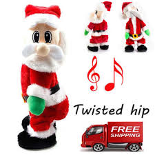 animated santa christmas animated santa claus hip singing electric toys