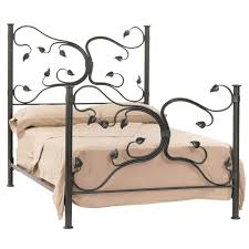 Art Nouveau Headboard by Black Wrought Iron Bed Frames Mixed Green Lamp Shade Elegant
