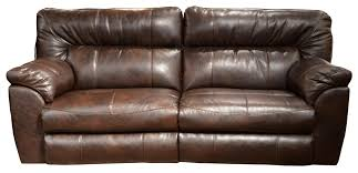 Power Leather Recliner Sofa Power Wide Reclining Sofa With Casual Contemporary Style By