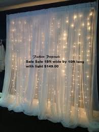 Christmas Lights Behind Sheer Curtain 20 Ft Wide X 10 Ft Fabric Backdrop Wedding Altar Ceremony Xl