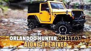 vaterra ascender jeep comanche pro orlandoo hunter oh35a01 jeep wrangler along the river rc