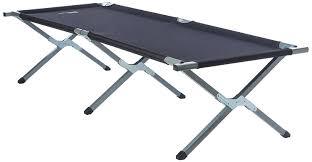 yellowstone aluminium folding camp bed black amazon co uk