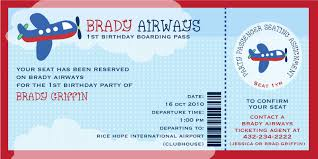 cute brady airways boarding pass ticket template theme for kids