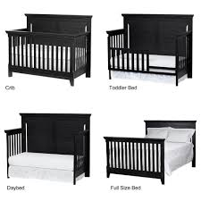 How To Convert Crib To Daybed by Baby Cache Overland 4 In 1 Convertible Crib Forever Black Toys